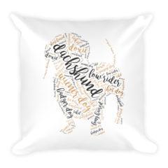 Dachshund Script Pillow