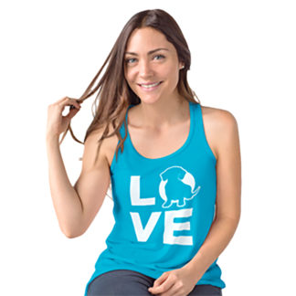 Love Doxie Racerback Women's tank top - Aqua