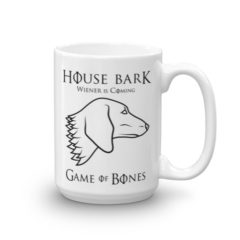 House Bark – Wiener is Coming Dachshund Mug